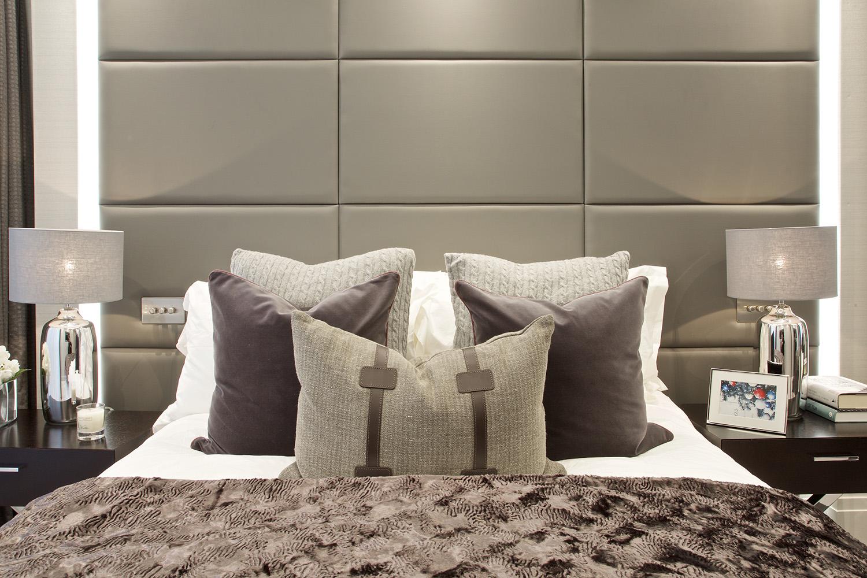Design Box London - Interior Design - Regent's Park Duplex, NW1 - Grey Bedroom