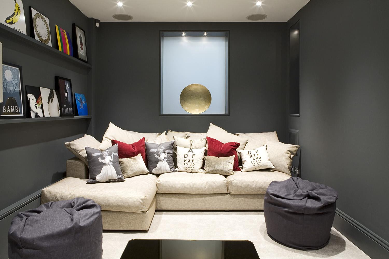 Design Box London - Interior Design - Belgravia Townhouse SW1 - Media Room