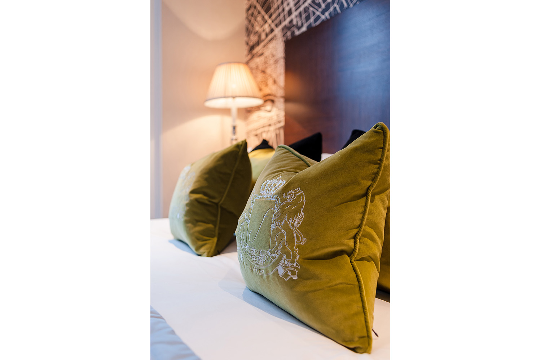 Design Box London - Interior Design - Flemings Hotel W1 - Bedroom Pillow