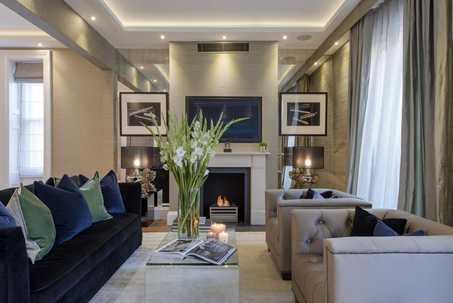 Mayfair pied terre w1 design box london luxury for Interior decorator london