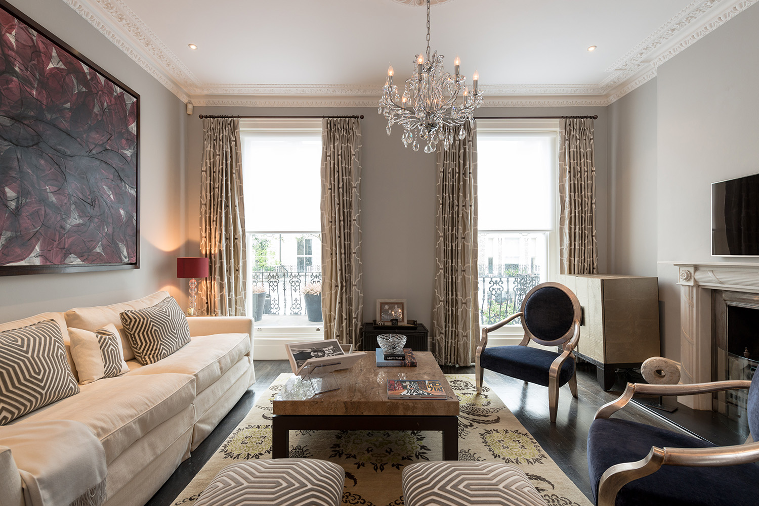 South kensington townhouse sw7 design box london for Interior decorator london