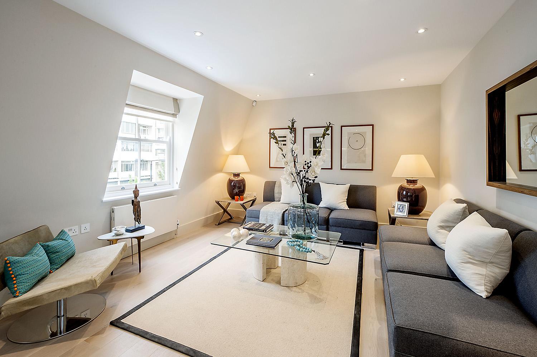 Design Box London - Interior Design - Notting Hill Development W11 - Lounge View