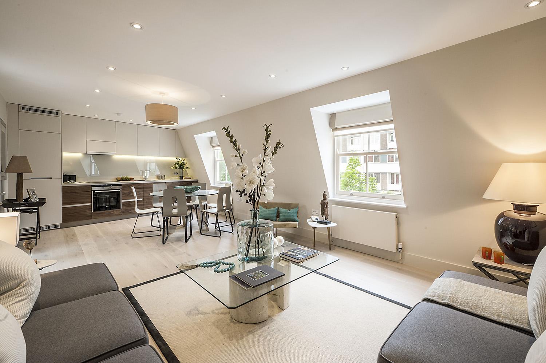 Design Box London - Interior Design - Notting Hill Development W11 - Lounge